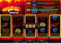 Super Fast Hot Hot Respin slot game HappyLuke casino online